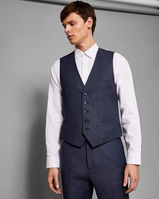 Ted Baker KINDEBW Debonair slim birdseye waistcoat