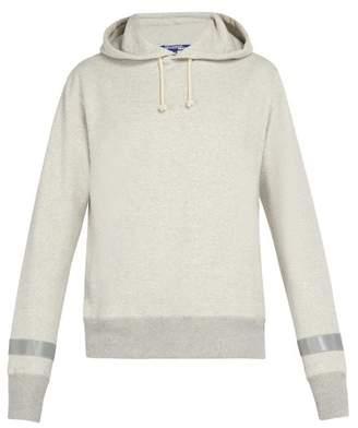Junya Watanabe Reflective Trim Cotton Jersey Hooded Sweatshirt - Mens - Light Grey