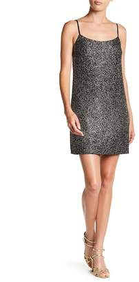 CeCe Sleeveless Mia Foiled Knit Dress