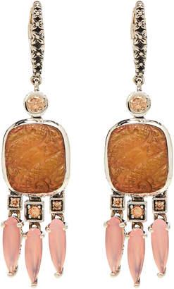Stephen Dweck Sterling Silver Quartz & Mother-of-Pearl Earrings
