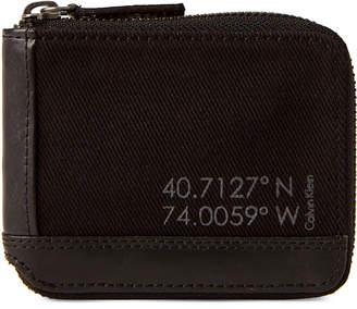 Calvin Klein Jeans Zip Around Canvas Wallet