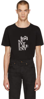 Saint Laurent Black 1971 Rive Gauche T-Shirt