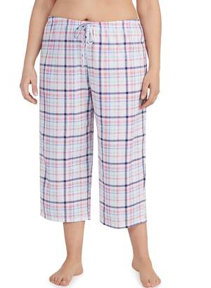 Jockey Plus Size Print Crop Pajama Pants