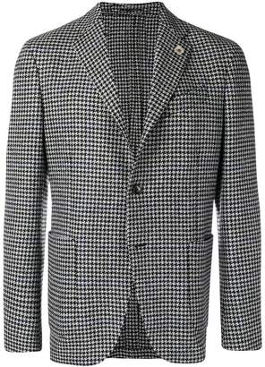 Lardini checked tailored blazer