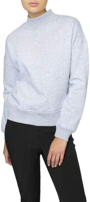 Just Female Grey Mockneck Sweatshirt