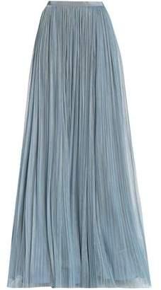 Jenny Packham Plissé Tulle Maxi Skirt