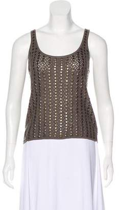 L'Agence Embellished Knit Top