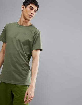 Jack Wolfskin Essential T-Shirt In Khaki
