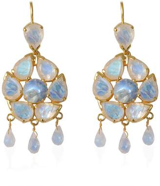 Emma Chapman Jewels Coachella Moonstone Chandelier Earrings