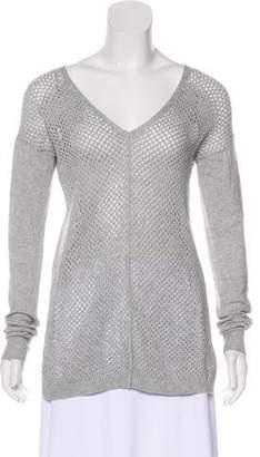 Rebecca Taylor Open-Knit Long Sleeve Sweater