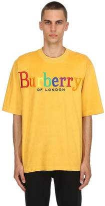 Burberry Over Rainbow Logo French Terry T-Shirt