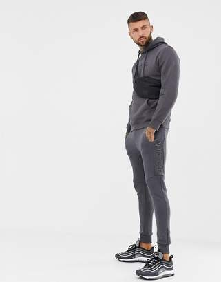 Nicce London skinny joggers in gray with logo