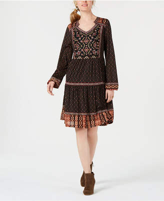 Style&Co. Style & Co Petite Embroidered Peasant Dress