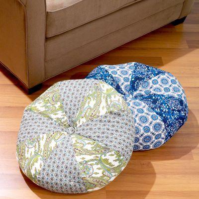 Patchwork Round Floor Cushion