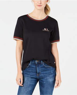 Roxy Juniors' Cotton Tropical Bliss Boyfriend T-Shirt