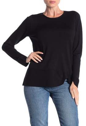 Cyrus Curved Hem Pullover Sweater