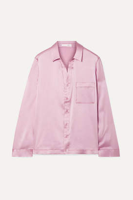 Skin - Reina Stretch-silk Satin Pajama Shirt - Baby pink