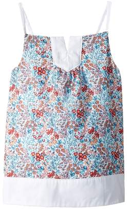 Janie and Jack Sleeveless Tiered Floral Top Girl's Sleeveless