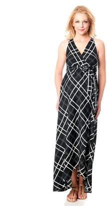 b862401234360 Motherhood Maternity Jessica Simpson Deep V Empire Waist Maternity Maxi  Dress