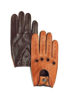 Marron Melville Leather Driving Gloves