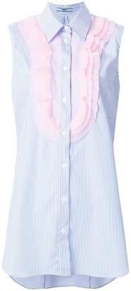 Prada ruffled sleeveless shirt