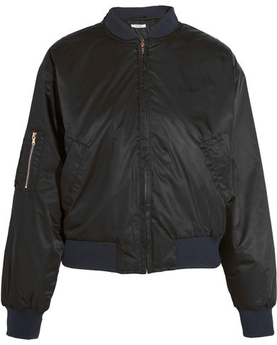 GANNI Greenwood Shell Bomber Jacket - Black