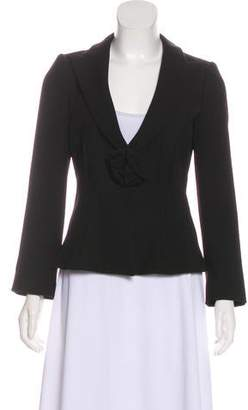 Armani Collezioni Fitted Pleated Blazer