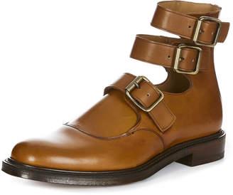 Vivienne Westwood Joseph Cheaney & Son Three Strap Boots in Chestnut Tan