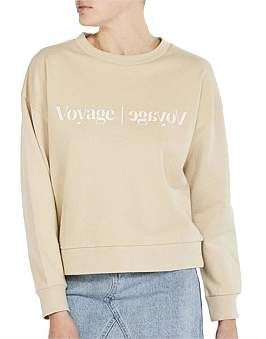 Nude Lucy Voyage Slogan Sweat