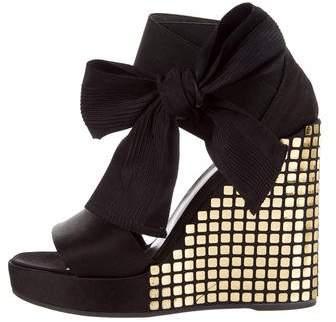 Bruno Frisoni Embellished Wedge Sandals