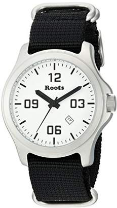 Roots Men's 'Core' Quartz Stainless Steel and Nylon Casual Watch