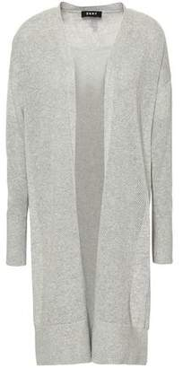 DKNY Pointelle-knit Cotton-blend Cardigan