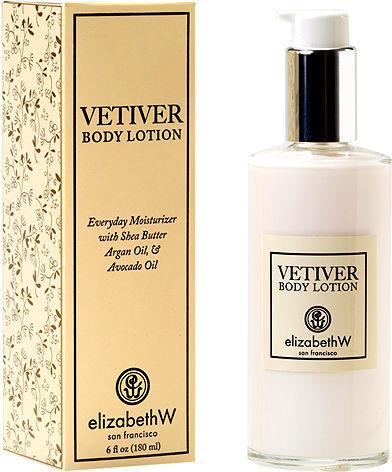 elizabeth W Body Lotion, Vetiver 6 fl oz (180 ml)