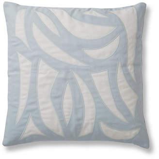 Lulu DK Cutouts 20x20 Pillow - Ice Blue Linen for Matouk