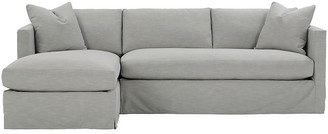 One Kings Lane Shaw Left Bench-Seat Sectional - Mist Crypton