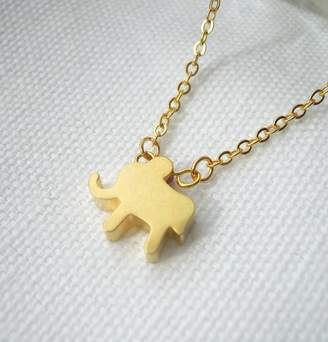 LaBelle et la Bete Gold Plated Elephant Necklace
