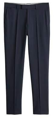 Slim-fit wool suit pants