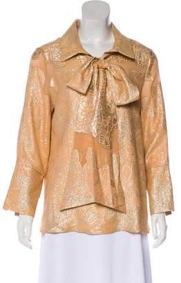 Nellie Partow Silk Metallic Top w/ Tags