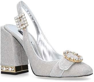 Dolce & Gabbana Jackie Crystal Mary Jane Pumps 105