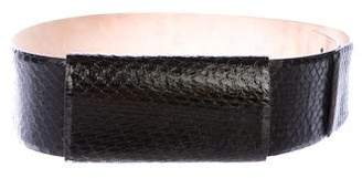 Max Mara Embossed Leather Waist Belt