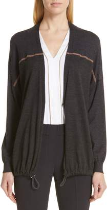 Brunello Cucinelli Monili Embellished Cashmere & Silk Cardigan