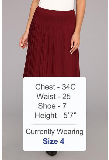 Calvin Klein Short Pleated Poly CDC Skirt