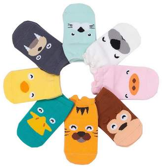 Acme 8 Pairs Unisex Baby Infant Cotton Anti-skid Animal Socks (Random Color)