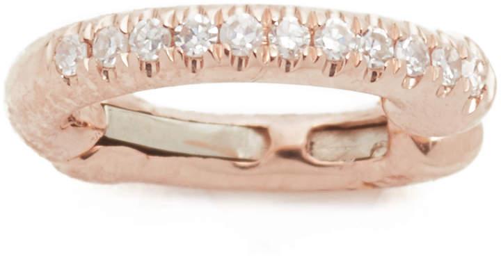 14k Rose Gold Single Diamond Ear Cuff