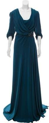 Jenny Packham Silk Embellished Gown w/ Tags