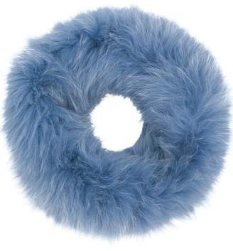 Yves Salomon fluffy collar scarf