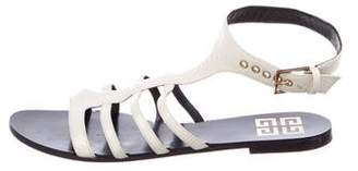 Givenchy Patent Leather Multi-Strap Sandals