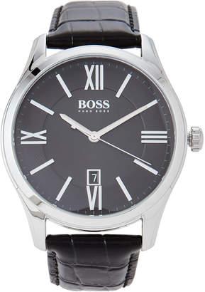 HUGO BOSS 1513022 Silver-Tone & Black Ambassador Watch