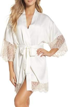 Flora Nikrooz Gabby Satin Kimono Robe