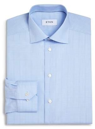 Eton of Sweden Basic Regular Fit Glen Plaid Dress Shirt